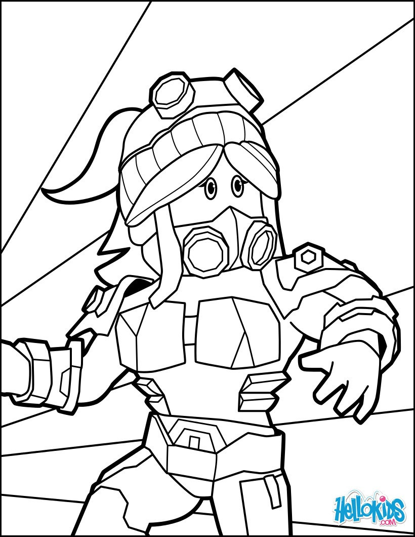 820x1060 Heroine Of Roblox Coloring Pages Hellokids Com Also Sheet Lively