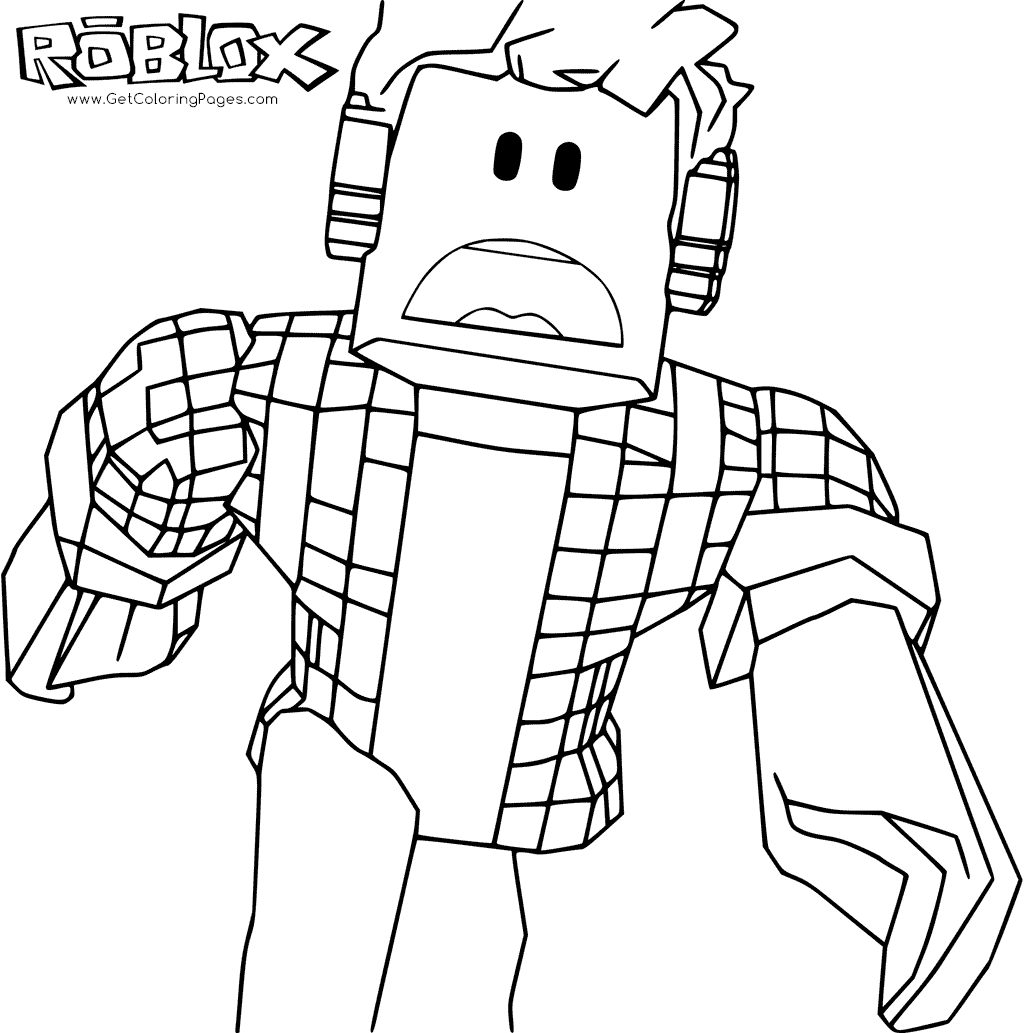 1024x1033 Roblox Coloring Pages