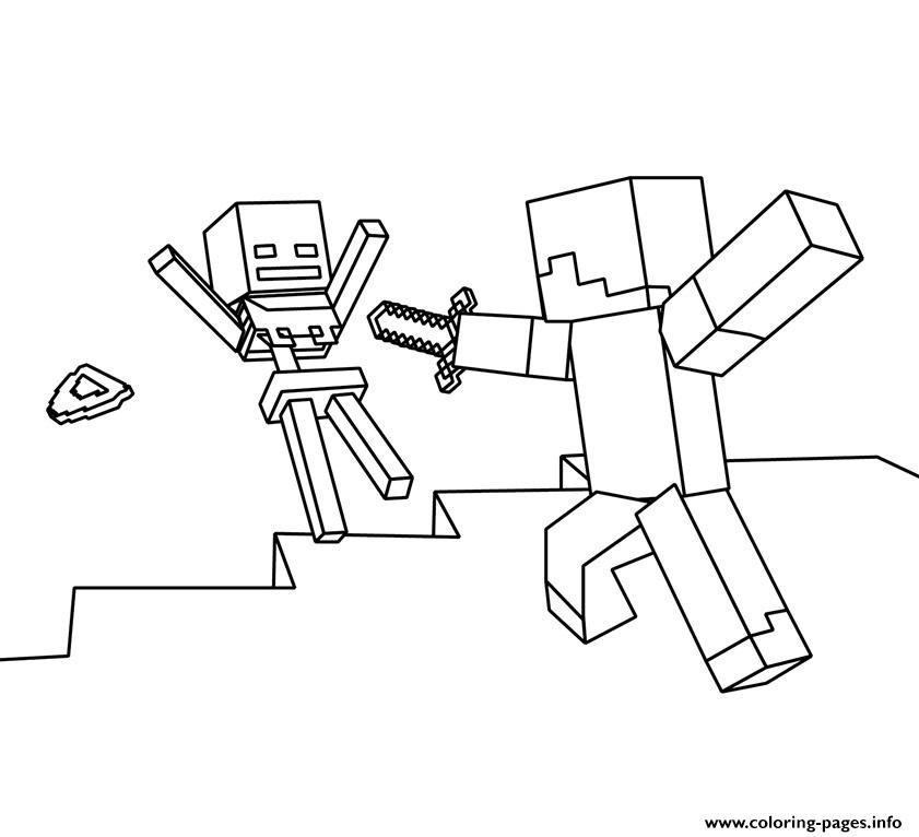 841x766 Roblox Vs Minecraft Coloring Pages Printable