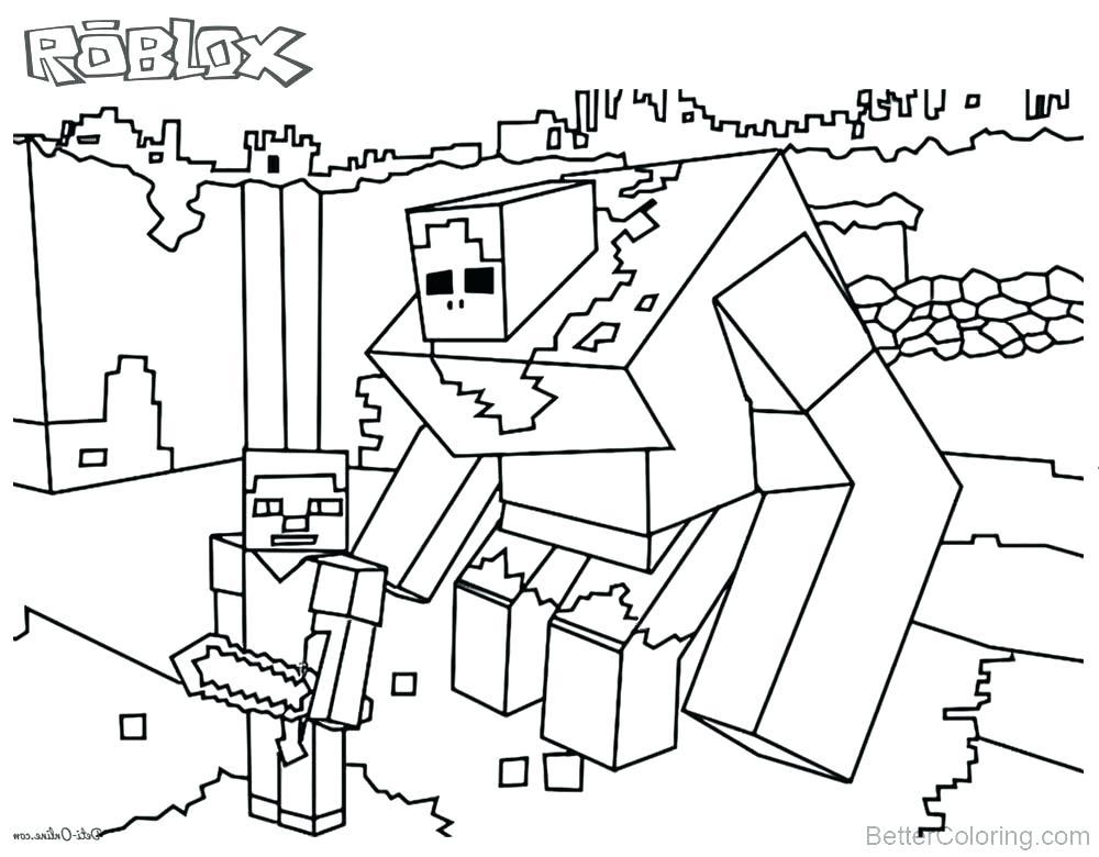 1000x780 Roblox Coloring Book