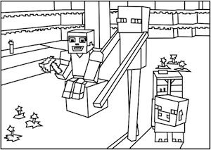 300x213 A Printable Roblox Minecraft Enderman Coloring Page Minecraft