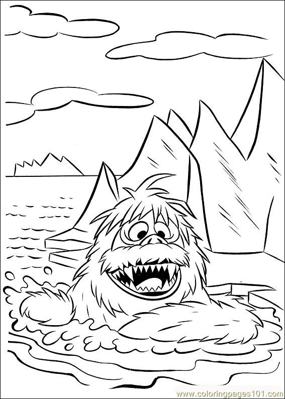 567x794 Rudolph Coloring Page