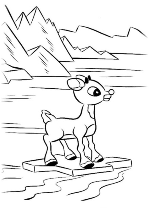 512x716 Rudolph Coloring Pages Images Free Coloring Pages