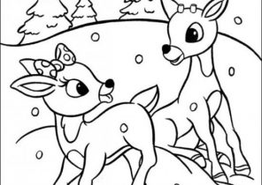 296x210 Rudolph The Red Nosed Reindeer Coloring Pages
