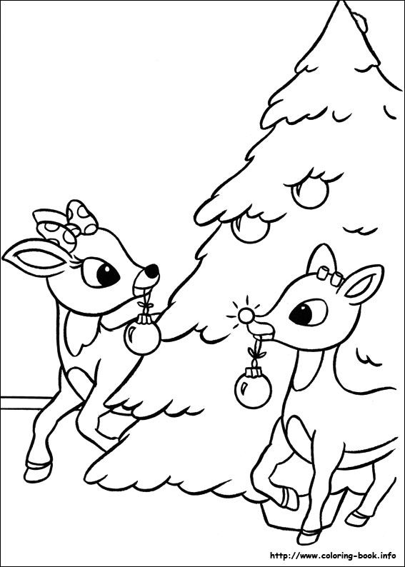 567x794 Rudolph The Red Nosed Reindeer Coloring Pages On Coloring Book