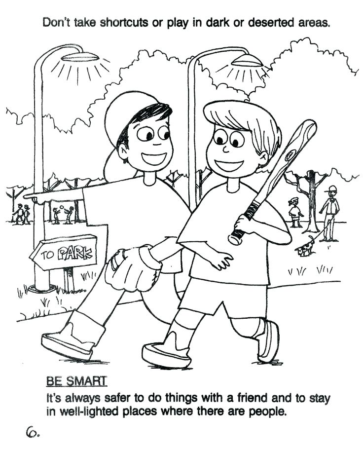 736x910 Halloween Safety Coloring Pages Safety Coloring Pages Stranger