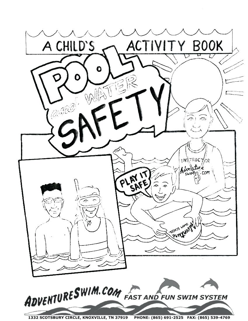 850x1100 Astonishing Water Safety Coloring Pages Swimming Download
