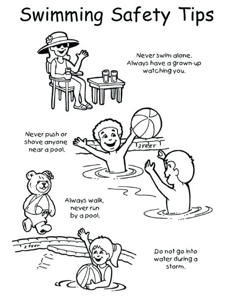 474x613 Pool Safety Coloring Page Google Search Swimming Pool Safety Free