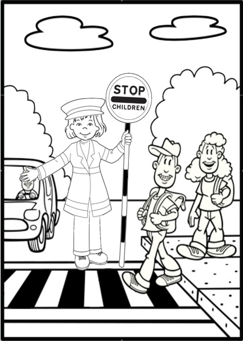 496x694 Road Safety Coloring Pages