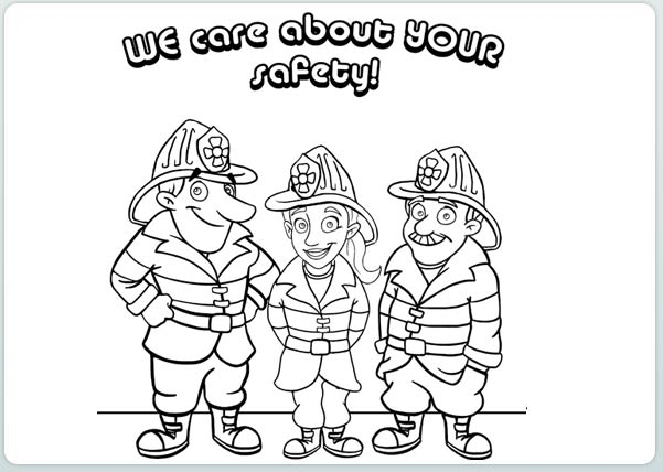 601x428 Safety Coloring Pages Awesome Fire Safety Coloring Pages In Ew
