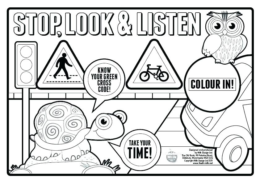 842x595 Bike Safety Coloring Pages Bicycle Coloring Book In Addition