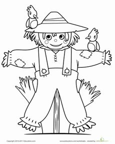 230x289 Fall Scarecrow And Pumpkins Coloring Page Coloring Book Pages