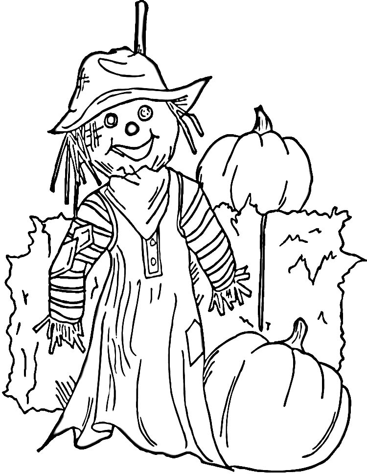 750x968 Free Printable Scarecrow Coloring Pages For Kids