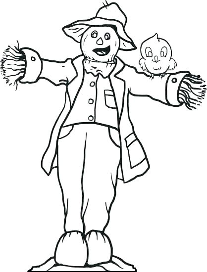 418x550 Free Scarecrow Coloring Pages Free Scarecrow Coloring Pages