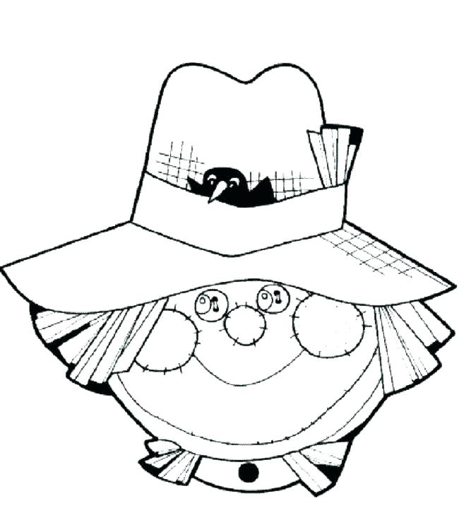 650x719 Free Scarecrow Coloring Pages Free Scarecrow Coloring Pages