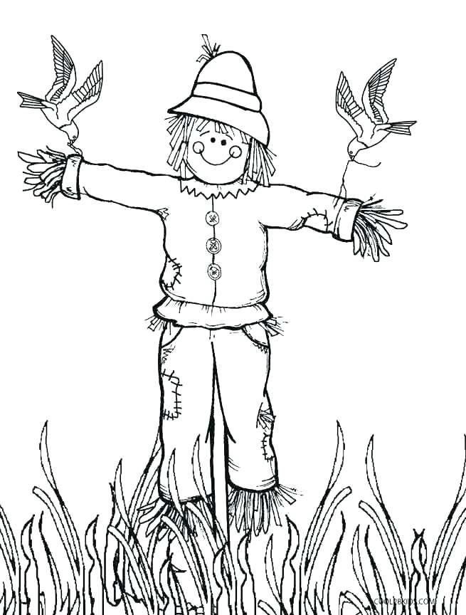 655x864 Happy Thanksgiving Scarecrow Coloring Page For Kids Happy Free