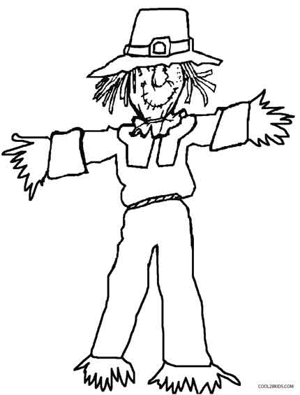 430x565 Printable Scarecrow Coloring Pages For Kids