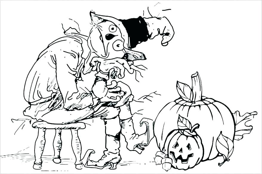 878x584 Scarecrow Coloring Pages Free Scarecrow Coloring Pages Scarecrow