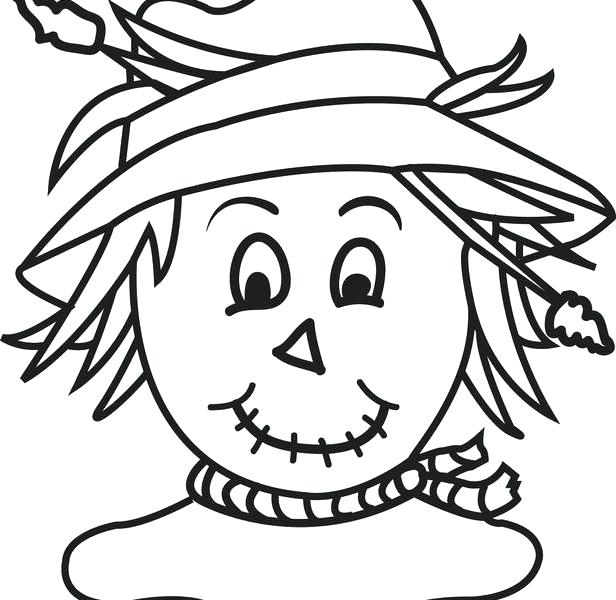 616x600 Scarecrow Coloring Sheet Free Printable Scarecrow Coloring Page