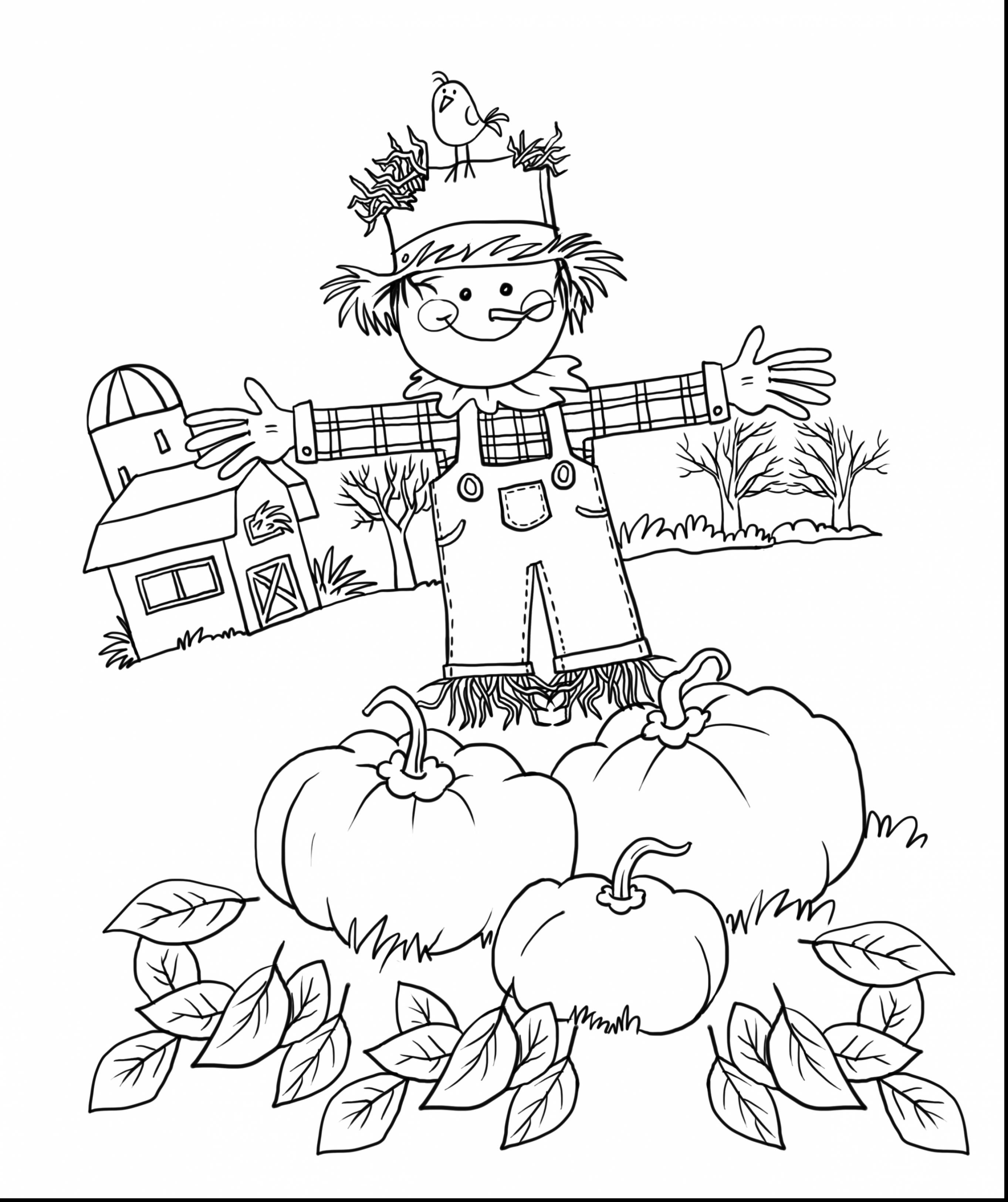 2726x3250 Special Scarecrow Coloring Page Free Printable Pages For Kids