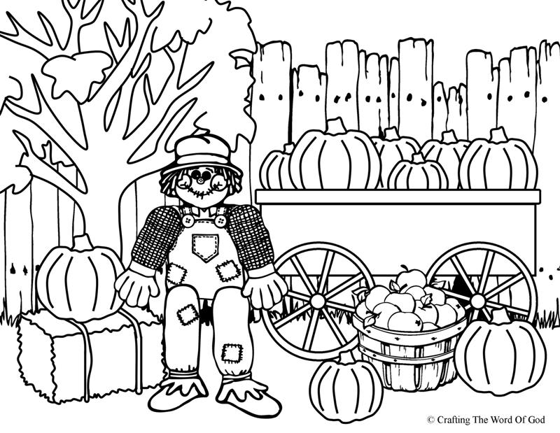 800x619 Thanksgiving Scarecrow Coloring Page Crafting The Word Of God