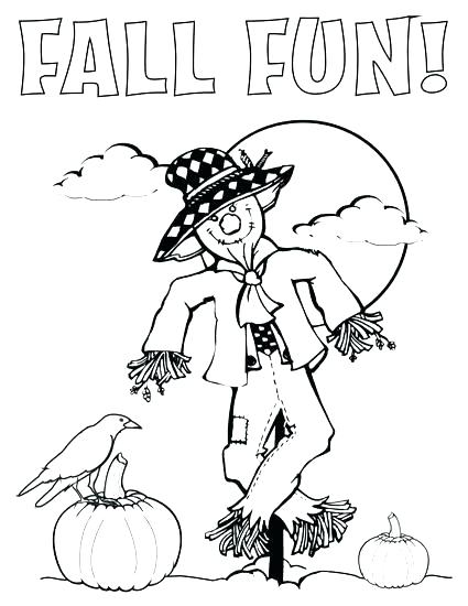 425x550 Coloring Pages Scarecrow