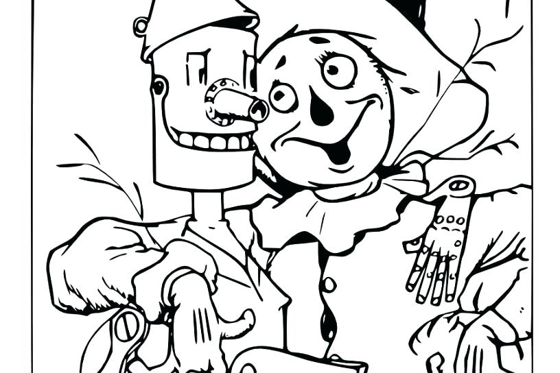 816x544 Free Printable Scarecrow Coloring Sheets