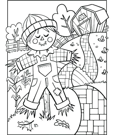 471x560 Scarecrow Coloring Page