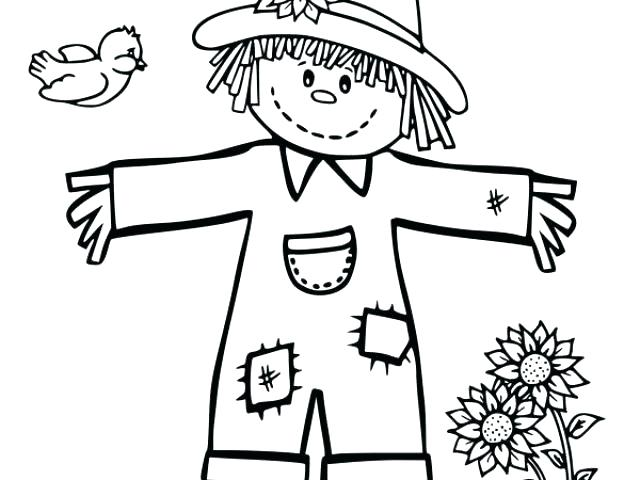 640x480 Scarecrow Coloring Pages