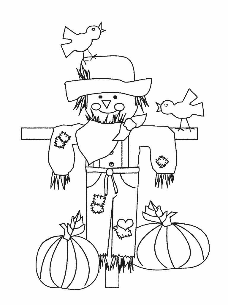 768x1024 Best Scarecrow Coloring Page Wizard Of Oz Free Printable Pages