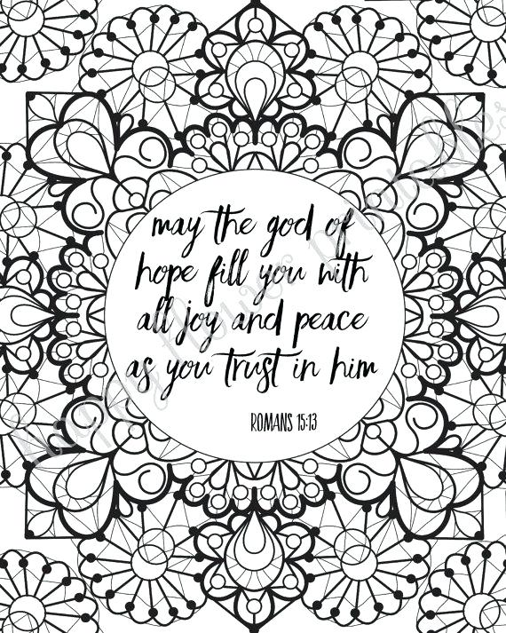 570x713 Free Printable Bible Verse Coloring Pages For Adults Bible Verse