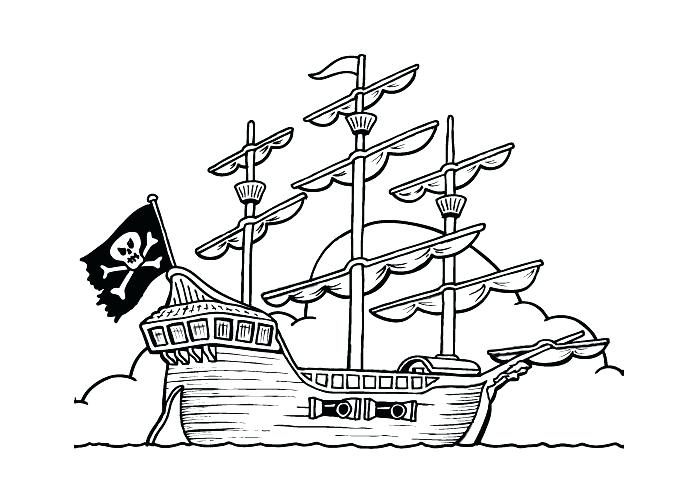 700x500 Pirate Ship Coloring Pages Pirate Ship Coloring Page Ship Coloring