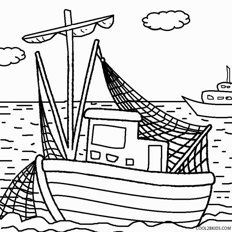 770x770 Printable Boat Coloring Pages For Kids