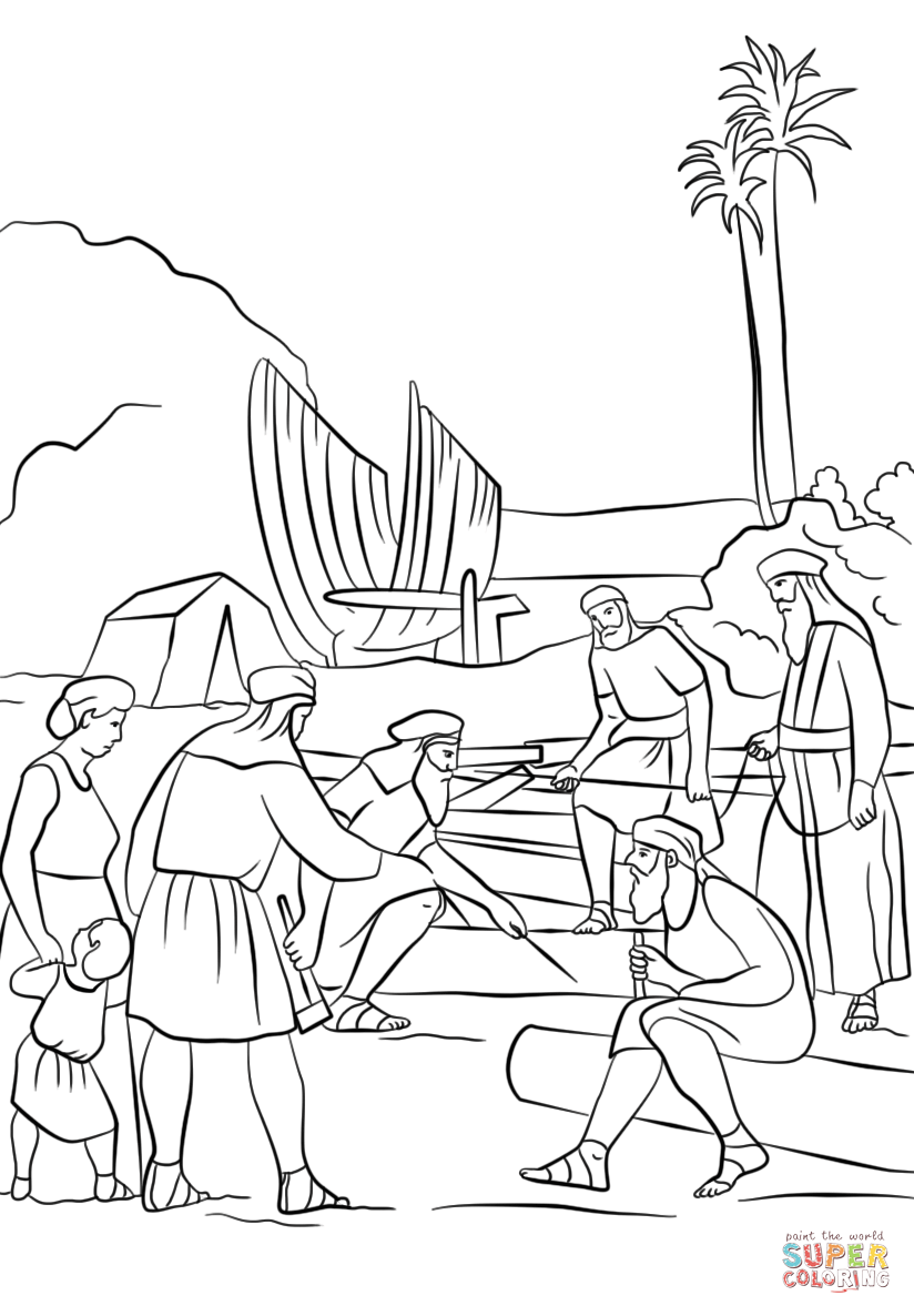 824x1186 Wonderful Book Of Mormon Coloring Pages Nephi Builds A Boat Page