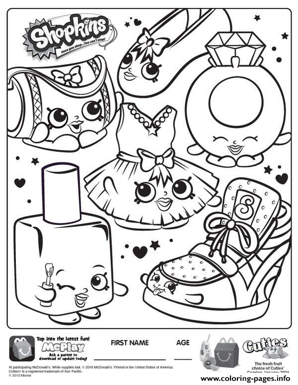 Free Shopkins Coloring Pages