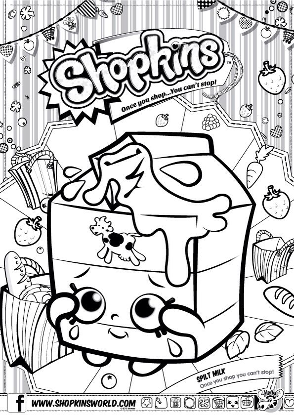 Free Shopkins Printable Coloring Pages