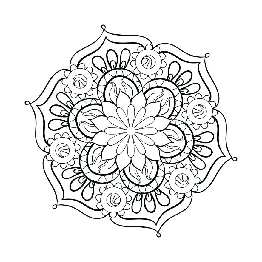 878x878 Mandalas To Color Free Plus Free Mandalas To Print And Color Great