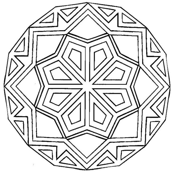 Free Simple Mandala Coloring Pages At Getdrawings Com Free For