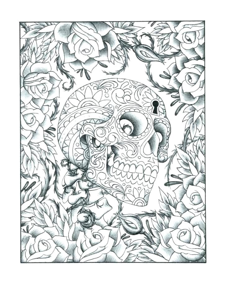 728x914 Sugar Skull Color Pages Skull Coloring Page Sugar Skull Coloring