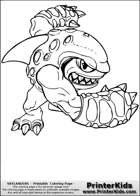 Free Skylanders Coloring Pages At Getdrawings Com Free For