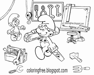 Free Smurf Coloring Pages