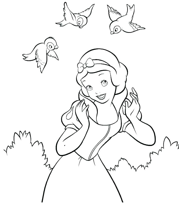 736x859 Snow White And The Seven Dwarfs Coloring Pages Dwarfs Coloring