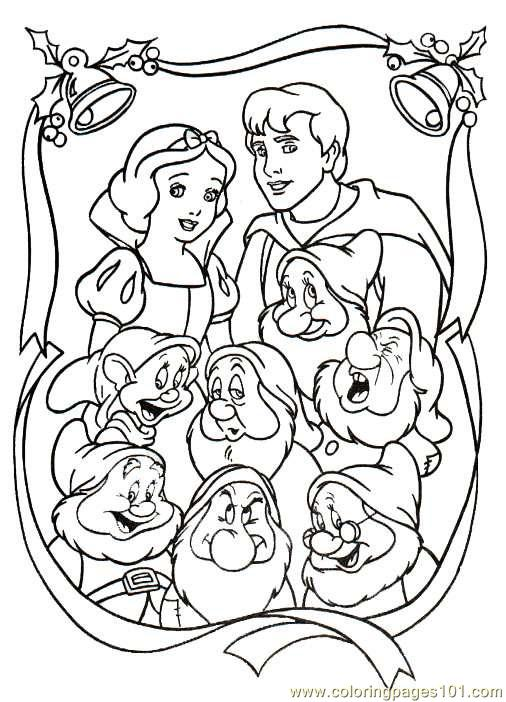 506x702 Snow White Christmas Coloring Pages