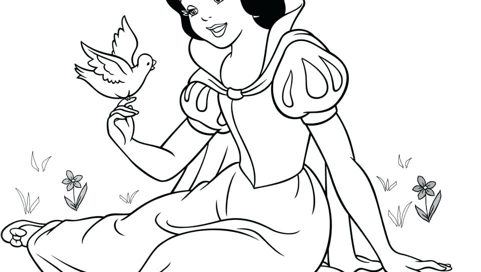 960x544 Snow White Coloring Sheet Dwarfs Black And White To Color