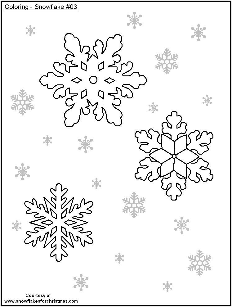 Free Snowflake Coloring Pages At Getdrawings Com