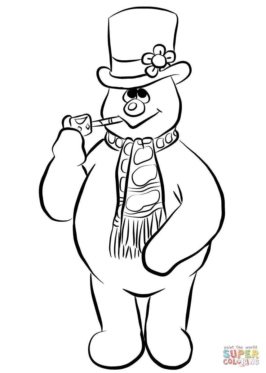 858x1200 Frosty The Snowman Coloring Page Free Printable Pages Lovely