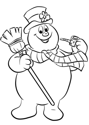 343x480 Full Snowman Coloring Pages Frosty The Page Fr