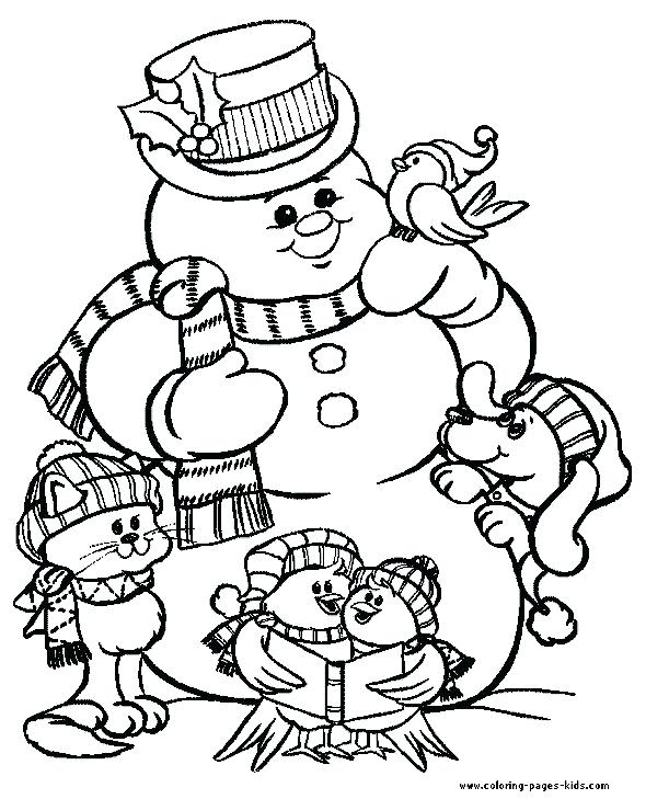 Free Snowman Coloring Pages To Print At Getdrawings Com Free For