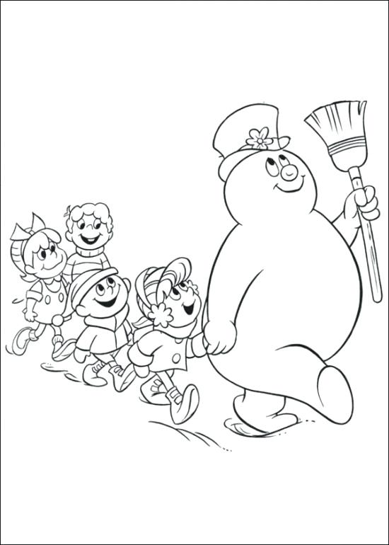 550x770 Snowman Color Pages Free Printable Frosty The Snowman Coloring
