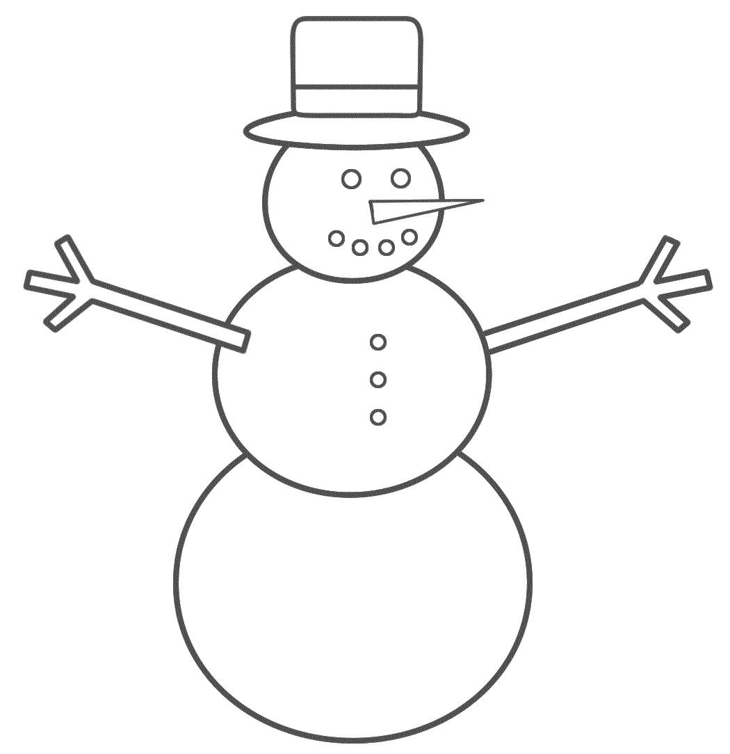 1050x1084 Snowman Coloring Pages Printable Fresh Stencil Snowman Logo